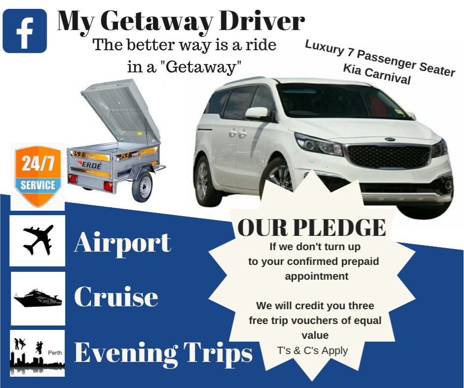 Our Pledge to pick you up or Three Free Trips to you